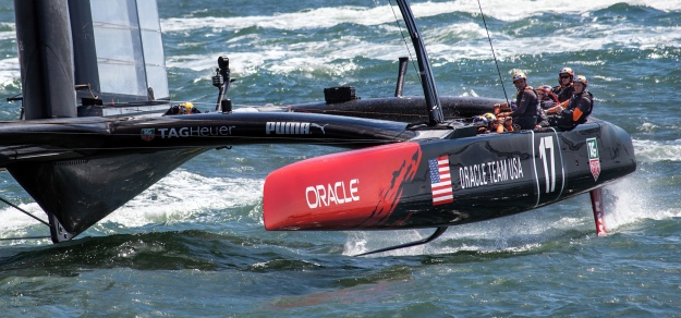 Inverted bow on Team Oracle Yacht